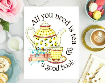 All you need is tea and a good books.