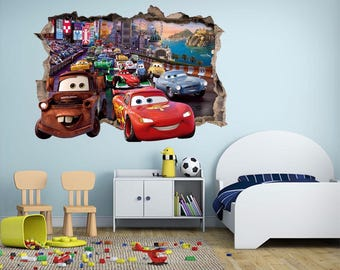 3D Toy Story Car 21 Wall Stickers Decal Breakthrough 3d Wallpaper   3d Wall  Decals   Part 58