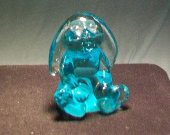 Fenton Aquamarine Flopsy Figurine
