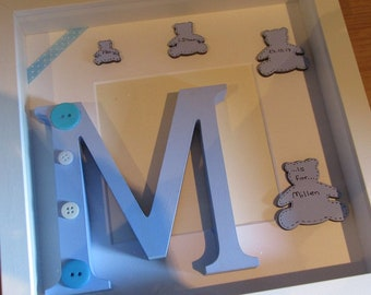 New Baby Personalised Frame - Boy or Girl