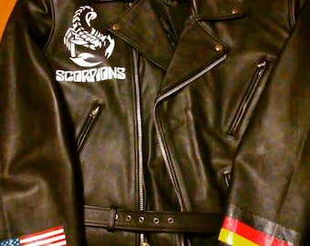 Scorpions Hand painted leather jacket