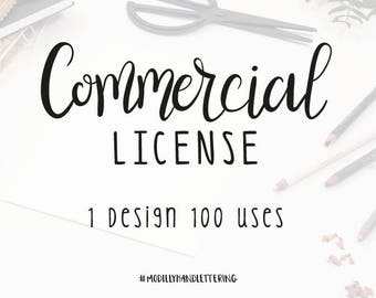Commercial Use Licensing - 1 Design - 100 uses