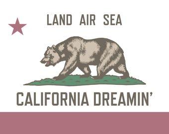 California Dreamin' 5x7 Card