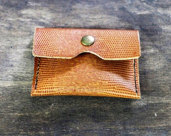 Leather coin pouch, coin holder, wallet, organizer, gift for him, gift for her, handmade, sleek, office, back to office,