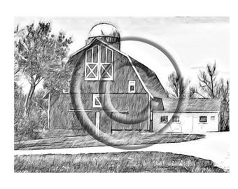 On The Farm an Adult Coloring Page