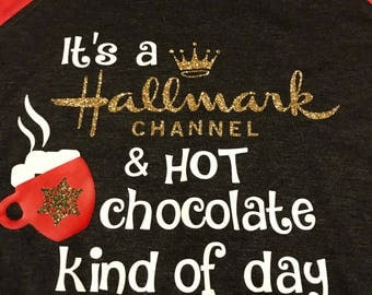 It's a Hallmark channel and hot chocolate kind of day - black/red raglan