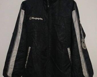Sale Rare Vintage 90s Champion Big Logo Spellout Windbreaker Sweater