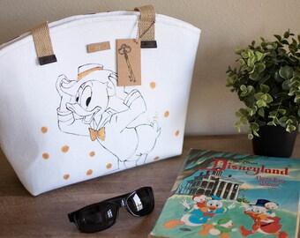 Handpainted Vintage Disney Coloring Book Bag