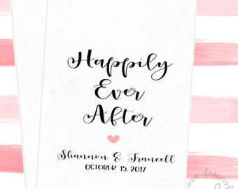 Happily Ever After, Favor Bags, Popcorn Bags, Candy Buffet Bags, Cookie Bags, Wedding Favors, RD045