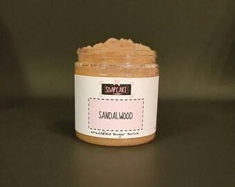 Sandalwood Emulsified Sugar Scrub / Handmade Body Scrub Polish