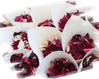 Organically grown dried flower petal confetti