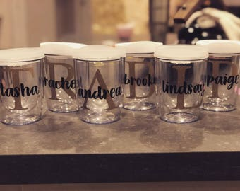 Personalized Tumbler/Monogram Tumbler/Acrylic Tumbler/Acrylic Wine Tumbler/Bachelorette Party/Girls Trip/Bridal Party/Bridesmaid Gift