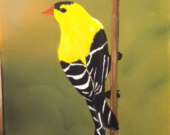 11 x 14 American Goldfinch Canvas