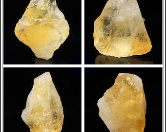 30-40mm Natural Rough Yellow Citrine Crystal and Gemstone Irregular Nugget Stone Specimen - DY00250