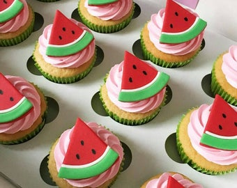 Watermelon Cupcake Toppers
