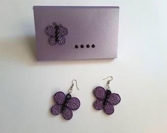 earrings/ quilling earrings/organic jewelery/light ,paper  earrings