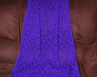 Crocheted Baby Blanket in Iris
