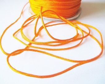 Set of 5 m cord nylon thread for bracelet, 1.5 mm orange