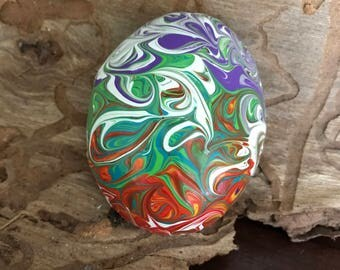Hand Painted Stone, Hand Painted Rock, Meditation Stone, Chakra Colors, Energy art, Paperweight, One of a Kind