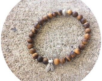Tigers Eye Dragonfly Bracelet