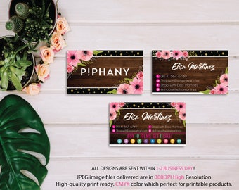 Piphany Business Cards, PERSONALIZED Piphany Punch Card, Custom Piphany Business Card, Buy 10 Get 1 Free, Floral Cards, Printable file PP05