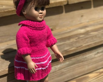 American Girl Knit Dress & Headband