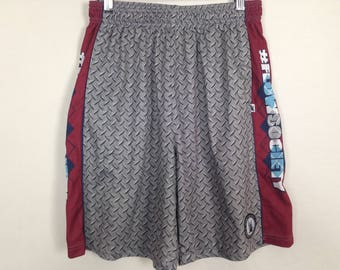 Diamond plate metal print shorts size M