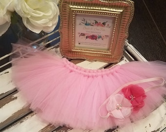 New Born Photography Outfit, Newborn Girl Photography outfit, New born gift, Baby Gift, Pink, Tutu, Photo Prop.