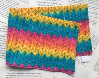 Large Bag - Warcross/Rainbow Chevron Flannel Pattern