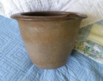 Vintage 1800s Beautifully Flawed Crock