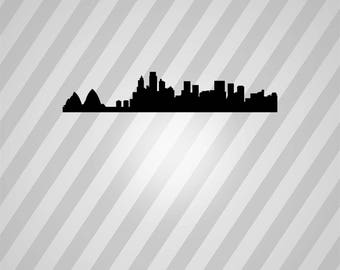 Australia Skyline Silhouette Sydney - Svg Dxf Eps Silhouette Rld RDWorks Pdf Png AI Files Digital Cut Vector File Svg File Cricut Laser Cut