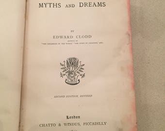 VINTAGE BOOK : Myths and dreams