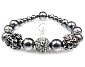 Bracelet Indian Hematite gemstone beads