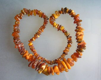 HUGE Honey BALTIC AMBER Antique Russian Necklace 133 Grams