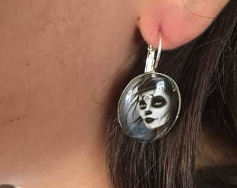 "Earrings ""all"" silver plated support"