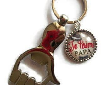 """Key - bottle opener/Dad / """"I love you Dad"""" / father's day/birthday gift/thank you/party"""