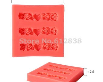 rose flower silicone mold for polymer clay