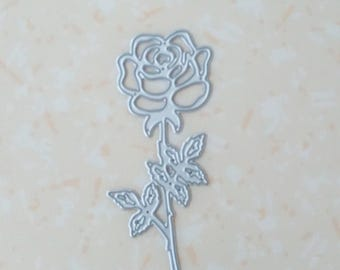 die cut flower. Die cut