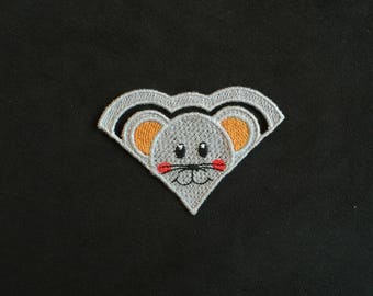 Bookmarks kid mouse smiling gray lace