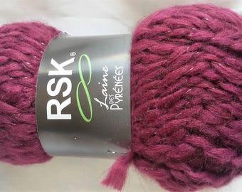 10 balls of yarn / shiny yarn / made in europe