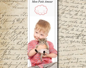 To personalize * hot personalized laminated bookmark with your photo - size: 5 cm x 15 cm
