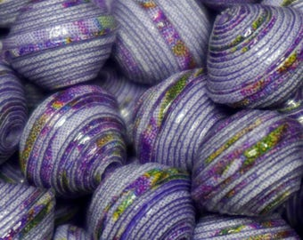 """Lilac"" handmade paper beads, unique designs."