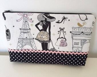 """Pattern """"Paris"""" make-up bag"""
