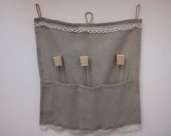Linen Panel and test tubes