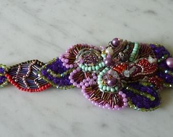 bead embroidery Cuff Bracelet