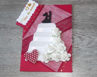 "Card ""to live the newlyweds"" wedding theme"