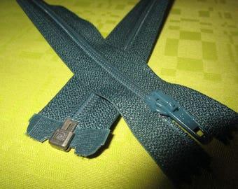 paper color dark green nylon zip