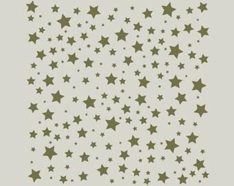 Adhesive vinyl stencil. Stars. Stenciled stars (ref 352)