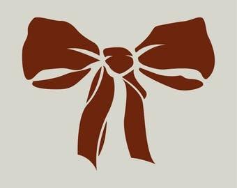 Bow tie. Stencil bow. Stencil Ribbon (ref 77)