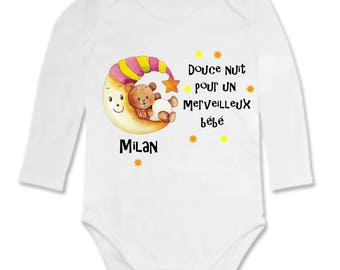 Goodnight Bodysuit for a wonderful baby girl personalized with name